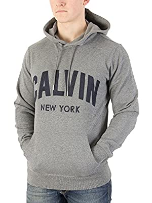 Calvin Klein Jeans Men's Hikos Graphic Pullover Hoodie, Grey