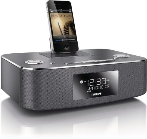 Philips DC291/37 30-Pin iPod/iPhone/iPad Alarm Clock Spea...
