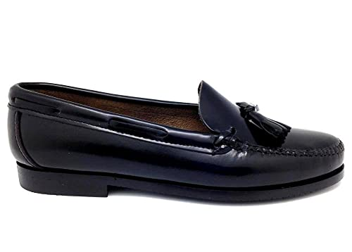 Castellano® 1920 Madrid - Mocasín con borlas en florentick Negro para Mujer: Amazon.es: Zapatos y complementos