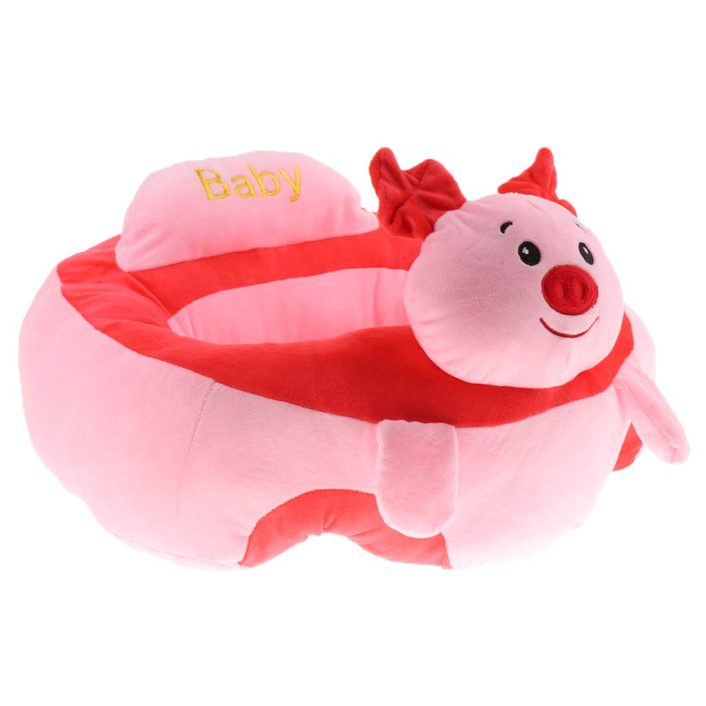 Fityle Kids Children Plush Chair Toddlers Armchair Seat Nursery Baby Sofa Animal - Pig, as described