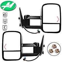 YINTATECH For 2003-2007 Chevy/GMC Silverado/Sierra Tow Mirrors Pair Power Heated & Telescoping With Arrow Signal Light