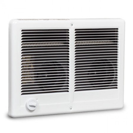 Cadet Heater (Cadet Com-Pak Twin 4000W, 240V Most Popular Large Room Electric Wall Heater with Thermostat, White)