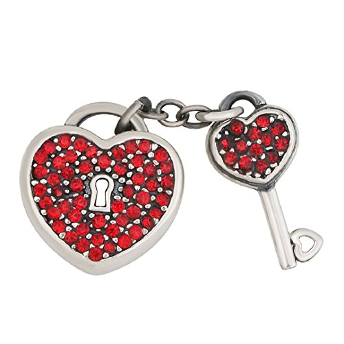 Exclusive Key To My Heart Birthstone Crystal Charm 925 Sterling Silver Fit European Charms (Ruby July (Rubies Halloween Jamaica)