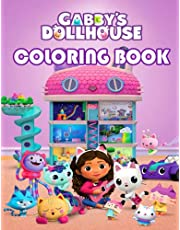 GABBY'S DOLLHOUSE COLORING BOOK: coloring pages filled with GABBY'S Jumbo characters, The Colouring Books for Kids, Perfect Gift Birthday or Holidays for Children