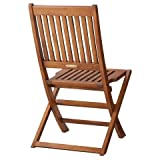 Smith & Hawken Wood Folding Patio Chairs 2-piece Set For Sale