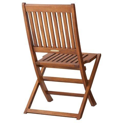 Smith & Hawken Wood Folding Patio Chairs 2-piece Set by Smith & Hawken