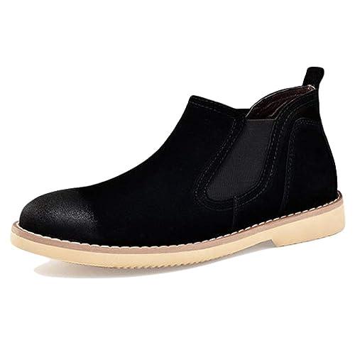 Botines De Gamuza Botines Chelsea De Gamuza Banda Elástica Martin Shoes Botas De Tacón Bajo Hombres Trabajo Trekking Senderismo Casual: Amazon.es: Zapatos y ...