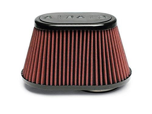 Airaid 721-448 Universal Clamp-On Air Filter: Oval Tapered; 3 in (76 mm) Flange ID; 4.5 in (114 mm) Height; 8.5 in x 5.25 in (216 mm x 133 mm) Base; 6 in x 3.75 in (152 mm x95 mm) Top