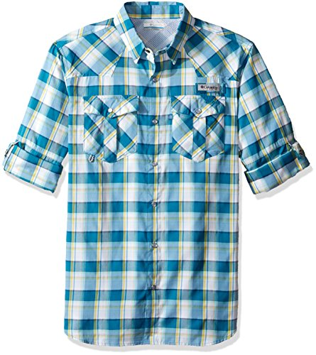 Columbia Sportswear Men's Beadhead Long Sleeve Shirt, Deep Marine Check, X-Large ()