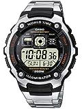CASIO Collection AE-2000WD-1AVEF - Reloj de caballero de cuarzo, correa de acero inoxidable color plata