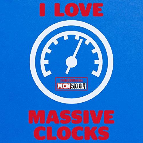 I Love Massive Clocks Camiseta, Para mujer Azul real