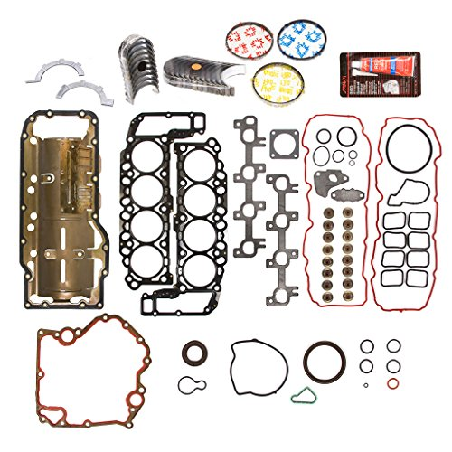 Evergreen Engine Rering Kit FSBRR8-30400EVE\0\0\0 99-03 Dodge Dakota Durango Jeep 4.7 SOHC Full Gasket Set, Standard Size Main Rod Bearings, Standard Size Piston Rings