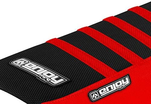 Compatible Fit for 2004-2014 Honda CRF 230 Red Sides//Black Top//Red Ribs Enjoy MFG Seat Cover