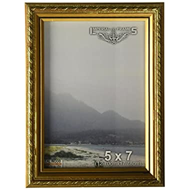 Imperial Frames 8 by 10-Inch/10 by 8-Inch Picture/Photo/Certificate Frame, Thin Fancy Rope Shaped Gold Molding