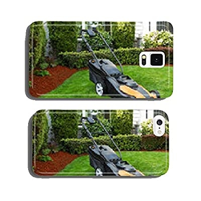 Electric Battery Lawn Mower on Front Yard cell phone cover case Samsung S5