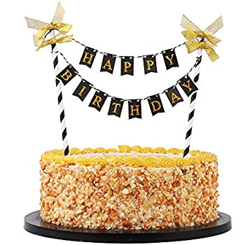 Cajaca Glitter Black Harry Potter Inspired Happy Birthday Cake