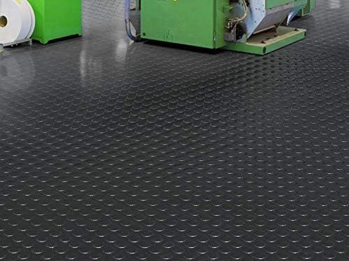 3 breiten Nopenmatte Gummimatte Schutzmatte Noppenmatte Bodenmatte mit Noppen Gummil/äufer 3mm stark 150 x 1000 cm
