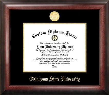 Amazon.com : Oklahoma State University Gold Embossed Diploma Frame ...