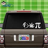 pot cooler - Chicken Pot Pie Vinyl Decal Sticker Bumper Cling for Car Truck Window Laptop Macbook Wall Cooler Tumbler   Die-cut/No Background   Multi Sizes/Colors   by Car Decal Geek-White, 8