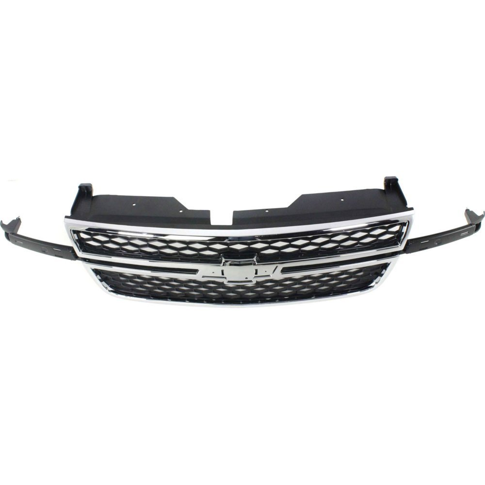 Grille for Chevrolet Silverado 1500 P//U 03-07 Honeycomb Plastic Chrome Shl//Textured Black Insert