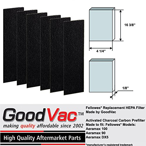 Fellowes AeraMax 100 Carbon Odor Absorbing Replacement Prefilter by GoodVac (6)