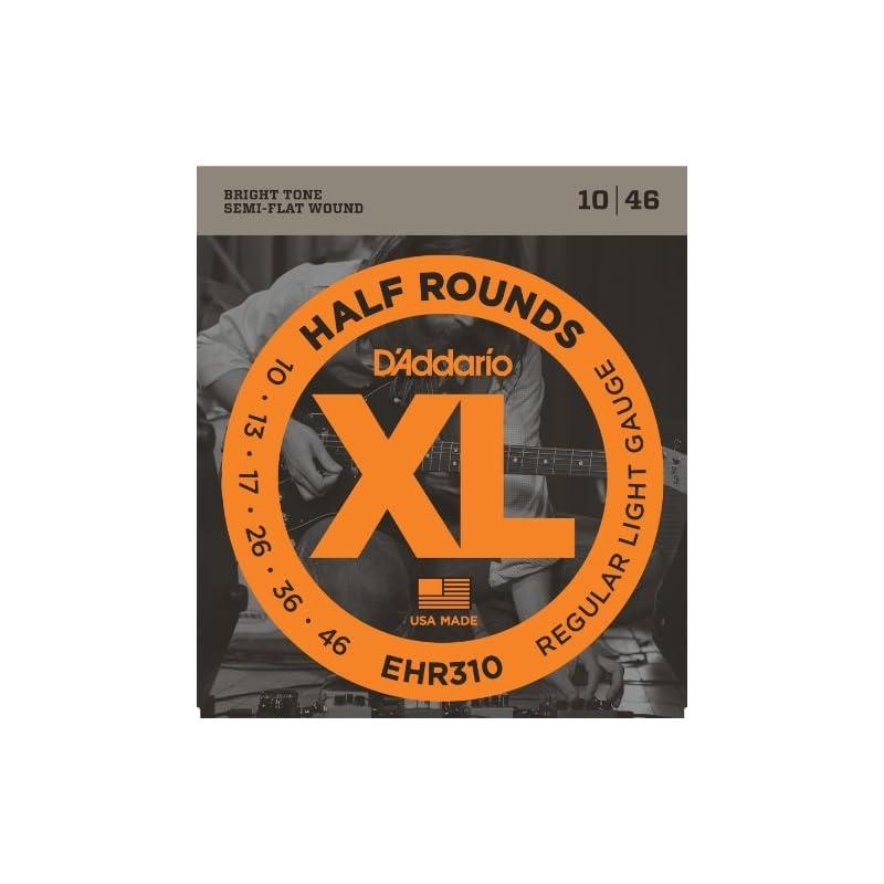 D'Addario EHR310 Half Round Electric Gui