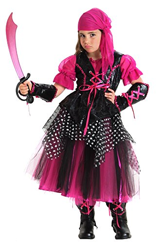 Princess Paradise Caribbean Pirate Costume, Large