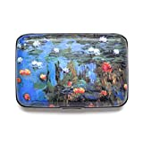 Monet Water Lilies RFID Secure Data Theft Protection Credit Card Armored Wallet