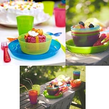 Vanguardia Conjunto de vajilla para niños (36 piezas de plástico de IKEA libre de BPA. Producto de calidad - Cleva® alute® Edition: Amazon.es: Electrónica