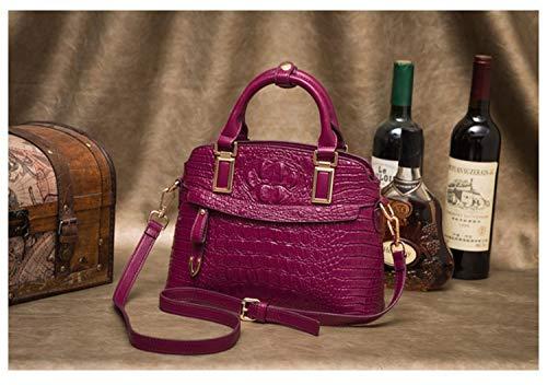 Mensajero Hemotrade Purple Cercanías Bolsa Purple De Rose Bandolera Cocodrilo Salvaje Bolso Asas color qr0C7cq