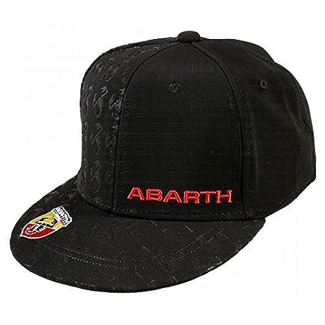 Abarth 21731 Cappellino Nero Visiera Piatta