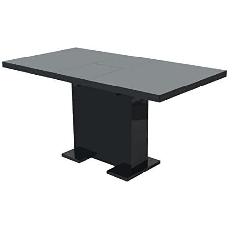 Amazon Com High Gloss Black Extendable Dining Table Kitchen