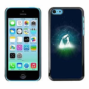 Shell-Star ( Aguarius Zodiac Sign ) Fundas Cover Cubre Hard Case Cover para Apple iPhone 5C