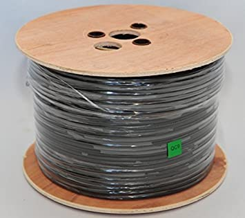 Cable Sourcing - 100m RG59+2 CCS, Alto Rendimiento Vídeo + Energia Escopeta cable