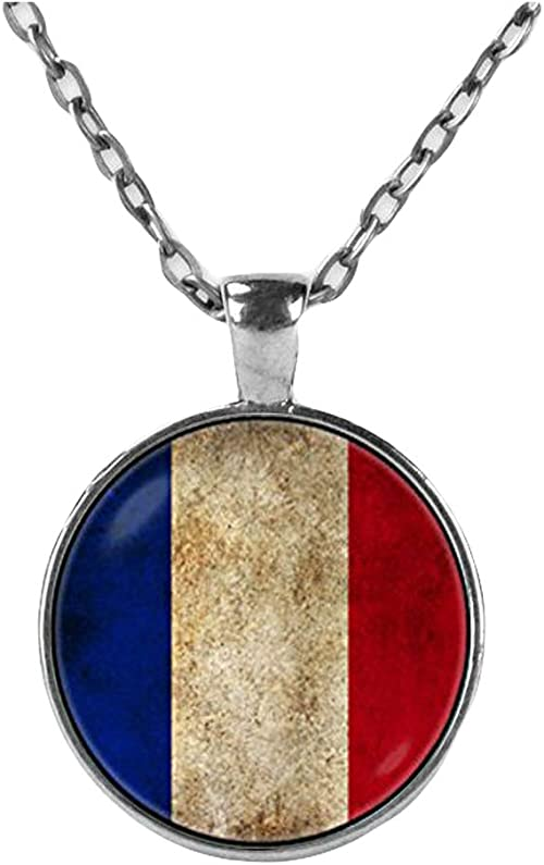 France French Flag Pendant /& Necklace