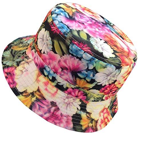E-Flag Unisex Cotton Reversible Hawaiian Bucket Hat (BK2133) ()