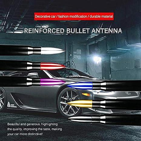 Volwco Autoantenne Universal Kurze AM//FM Autoradio Antenne Bullet Empfang Antenne Auto Modified Antenne f/ür VW Mercedes BMW Ford Audi Skoda Jeep