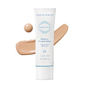 Premium Beauty Balm, OxygenCeuticals Intensive Blemish Balm, Conceals Imperfections, Brightening, Moisturizing, Soothing, Sun Protection Rated SPF 45, BB Cream Korean Skin Care, Post Procedures Sun BB Cream, For All Skin Types, 50 ml/1.69 oz