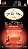 Twinings of London Mixed Berry Black Tea Bags, 20 Count (Pack of 6)