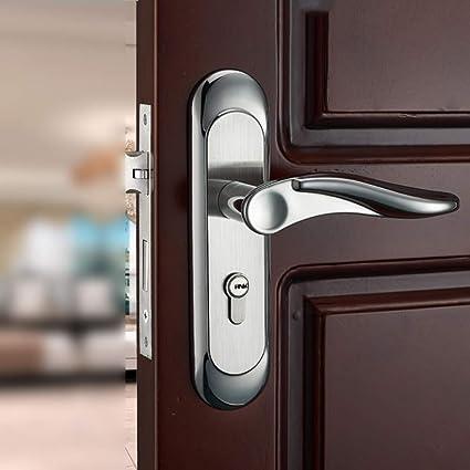 GZF Manillas para puertas Cerradura de puerta para habitación Cerradura de puerta para habitación muda Cerradura