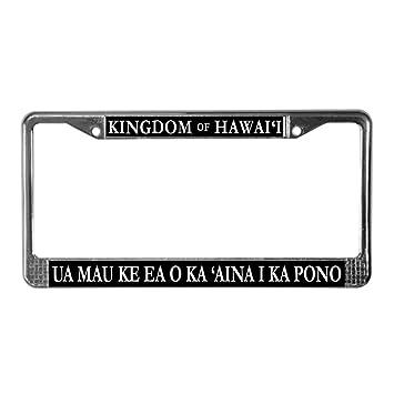 Amazon.com: CafePress - Kingdom of Hawaii License Plate Frame ...
