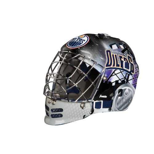 Franklin Sports NHL League Logo Edmonton Oilers Mini Goalie Mask (Mini Oilers)