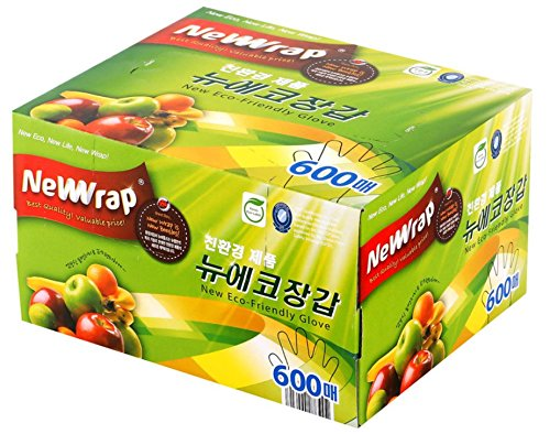 環境に優しい使い捨てビニール手袋600個、BPAフリーSugarcane派生バイオプラスチック、for Cooking、クリーニング、 B07B25GFDD