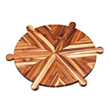 Antipasto Platter: 16.5x16.5x0.6 in   Special ocaccions need a teakboard like this one!