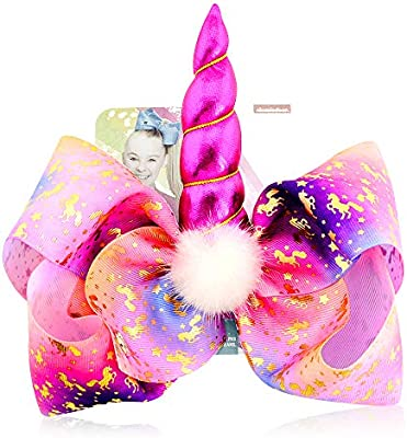 JoJo Siwa 8 Inch Angel Bows with Alligator Clip
