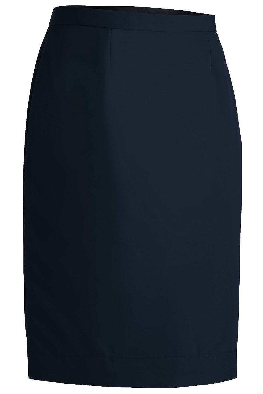 Edwards Garment Womens Polyester Straight Skirt 38.5W Dark Navy