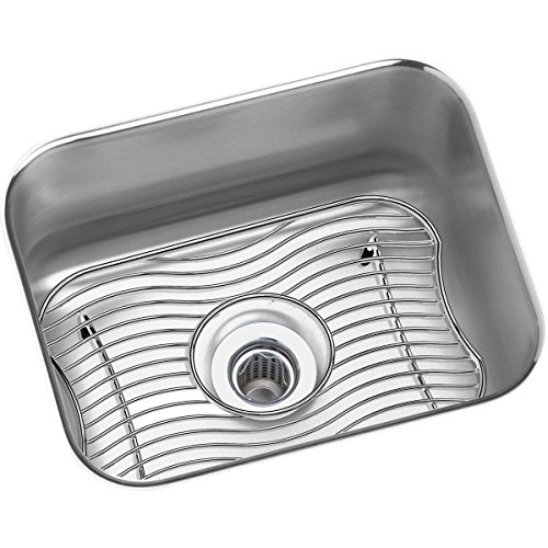 Elkay Lustertone ELUH129DBG Single Bowl Undermount Stainless Steel Bar Sink Kit - Lustertone Rectangular Undermount Sink