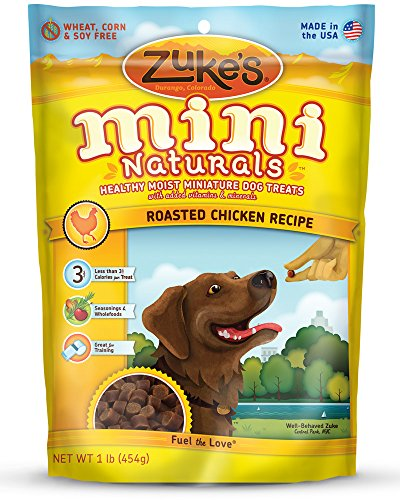 Zukes Mini Naturals Dog Treats Roasted Chicken Recipe 16-Ounce