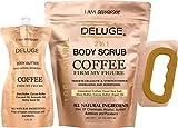 deluge DELUGE - Organic Coffee Body Scrub, Tightens, Tones, Reduces Cellulite 100% Natural 10 OZ ++ BODY BUTTER 6 OZ