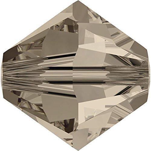 5328 Swarovski Crystal Bicone Beads Greige | 4mm - Pack of 50 | Small & Wholesale Packs (Greige Bicone)